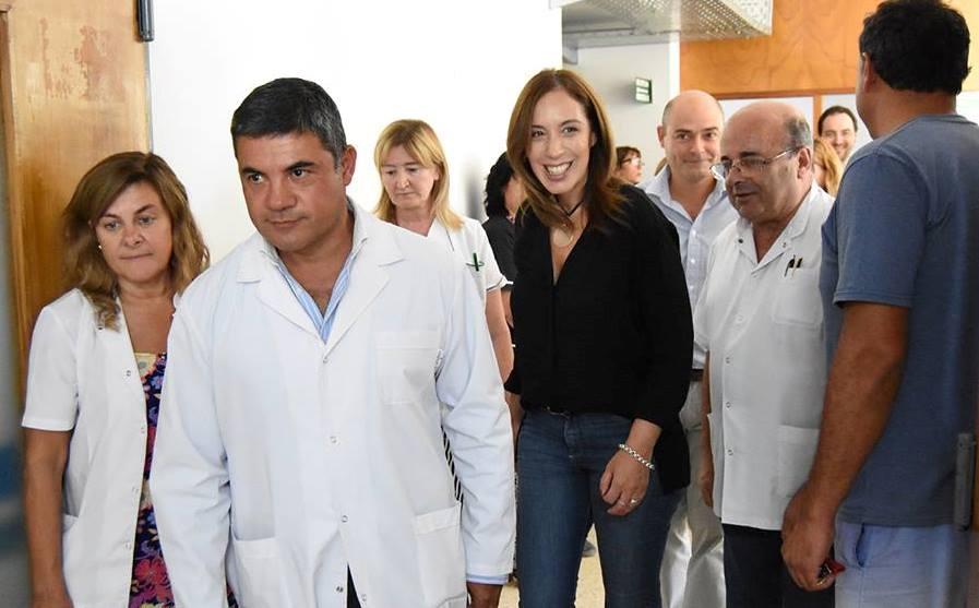 Fugaz visita de María Eugenia Vidal