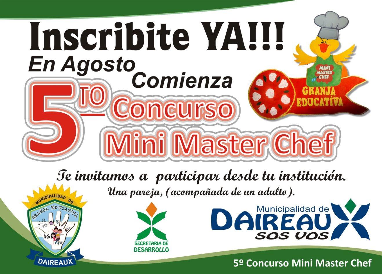 Concurso Mini Chef en Daireaux