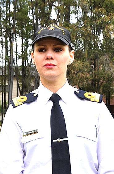 Psicóloga y oficial de la Armada