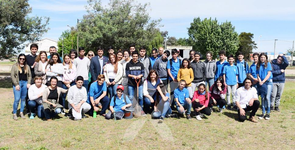 Alumnos de la Escuela Técnica de Daireaux